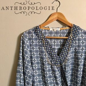 Anthropologie High-Low Wrap Blouse